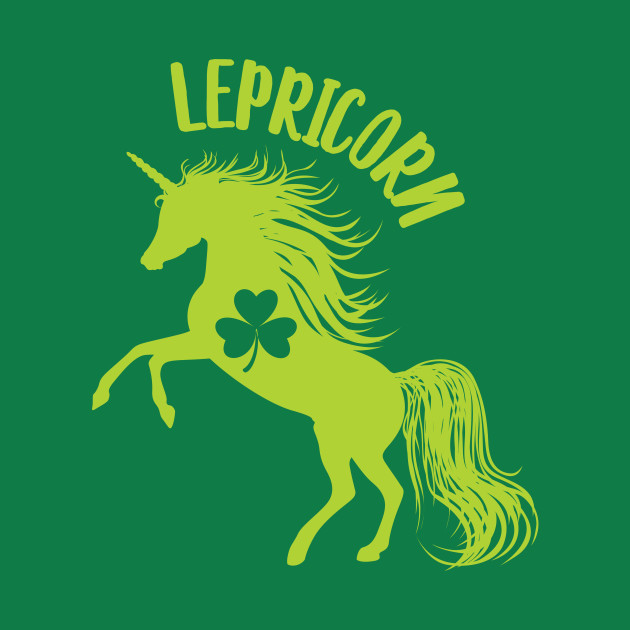 Lepricorn Unicorn Leprechaun St Patricks Shamrock T-Shirt