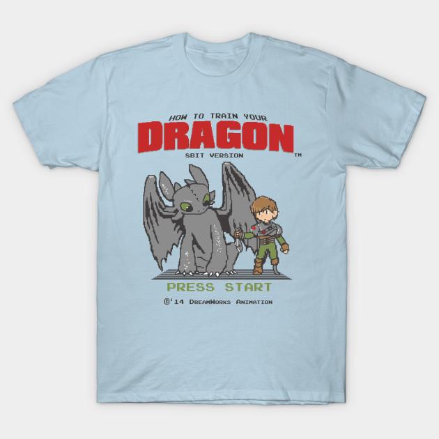 4005e3bd How To Train Your Dragon 8Bit Version - Mashup - T-Shirt   TeePublic