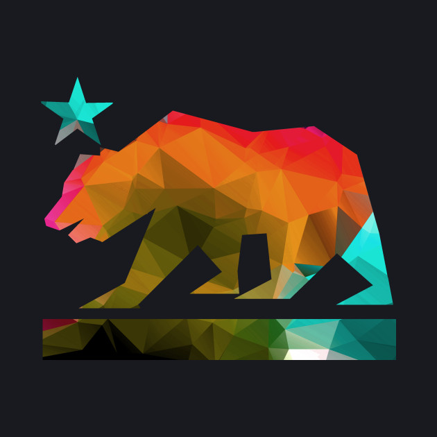 California State Bear (fractal colors)