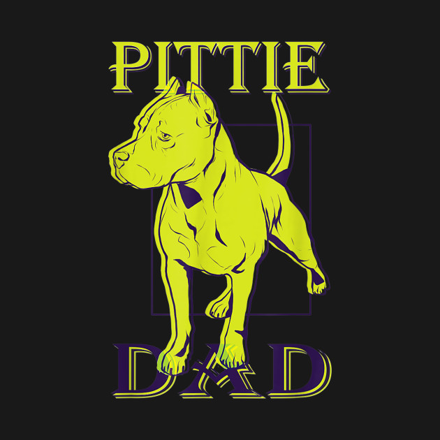 51883dda ... Pittie Dad Shirt for Pitbull Dog Lovers - Fathers Day Gift T-Shirt