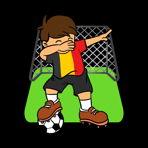 403bf92ee4a ... Belgium Soccer Ball Dabbing Kid Belgians Football Goal 2018 Design