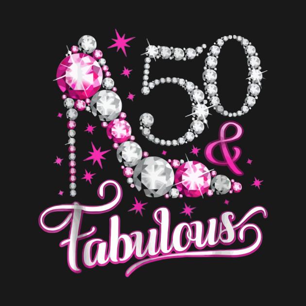 8aa0a520e ... Kids Long Sleeve T-Shirt. New!Back Print. 50 And Fabulous 50th Birthday  Tshirt 50 And Fabulous 50th Birthday Tshirt