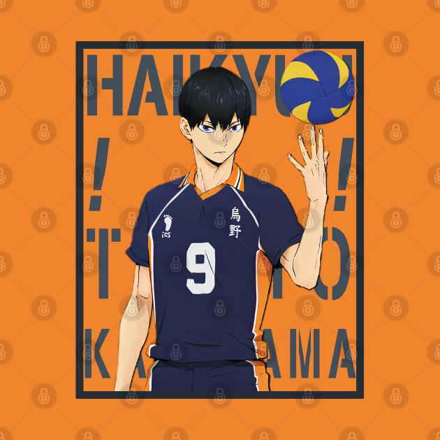 Haikyuu!!: Tobio Kageyama with Colored Background Text