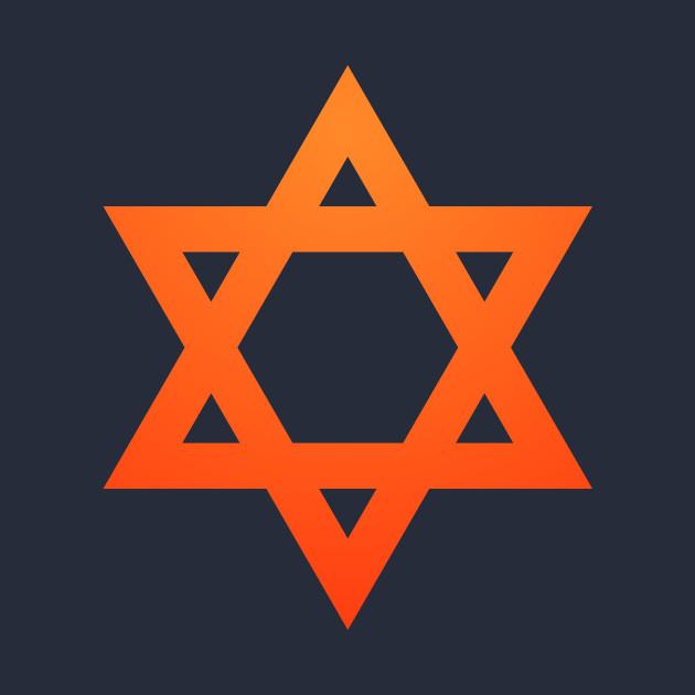 Warm Jewish Star of David