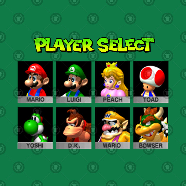 Player Select Mario Kart 64 V2