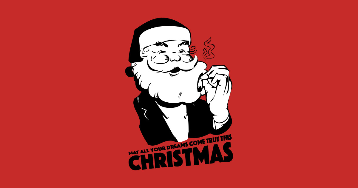 Stoner santa stoner sticker teepublic