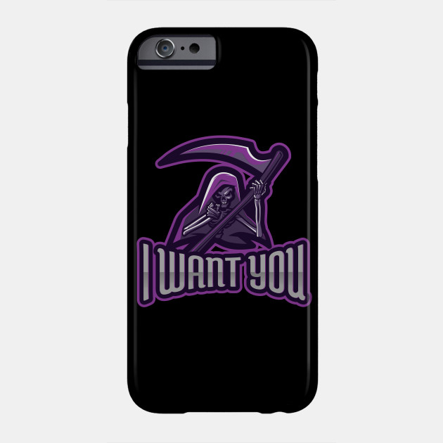Death God! I want you! Funny Halloween Phone Case