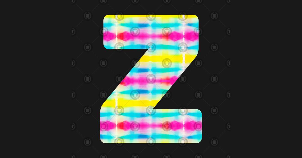Tie Dye Alphabet Z (Uppercase letter z), Letter Z - Alphabet Z - T