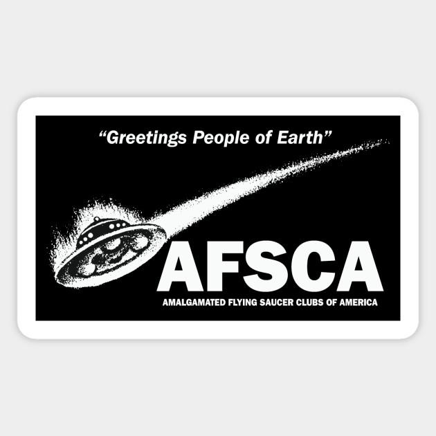 Greetings people of earth afsca ufo sticker teepublic 2950746 0 m4hsunfo