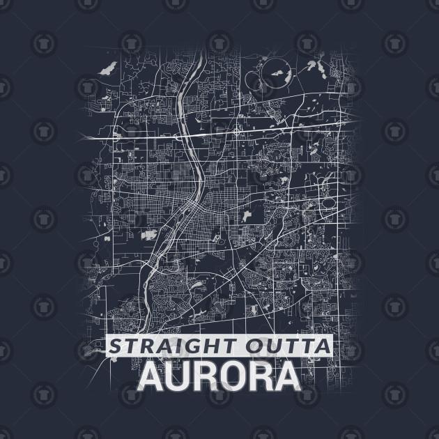 Straight Outta Aurora Illinois City Map