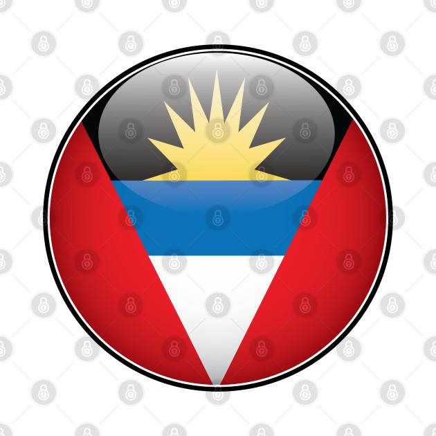 Antigua and Barbuda National Flag Glossy Button