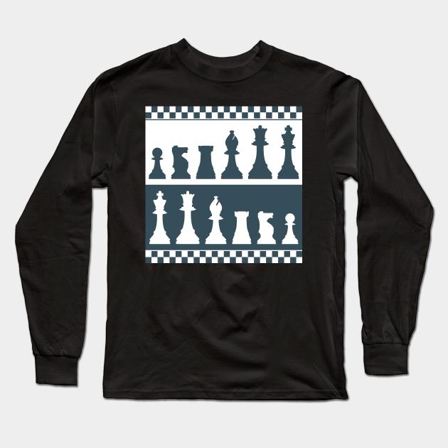 Chess Board Pieces Chess Board Long Sleeve T Shirt Teepublic