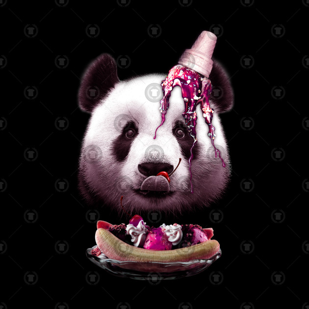 PANDA LOVES ICE CREAM
