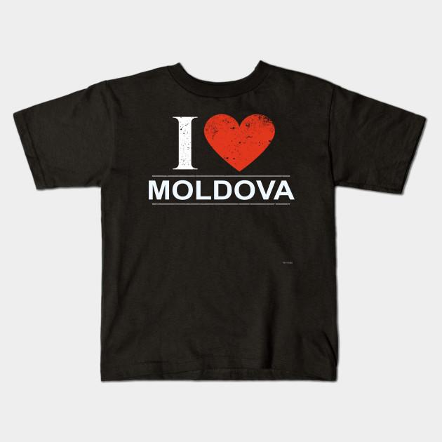 I Love Heart Moldova Kids T-Shirt