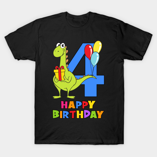 4th Birthday Party 4 Year Old Four Years T Shirt