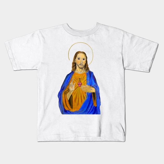 Jesus Tee Full Color - Jesus Christ - Kids T-Shirt | TeePublic
