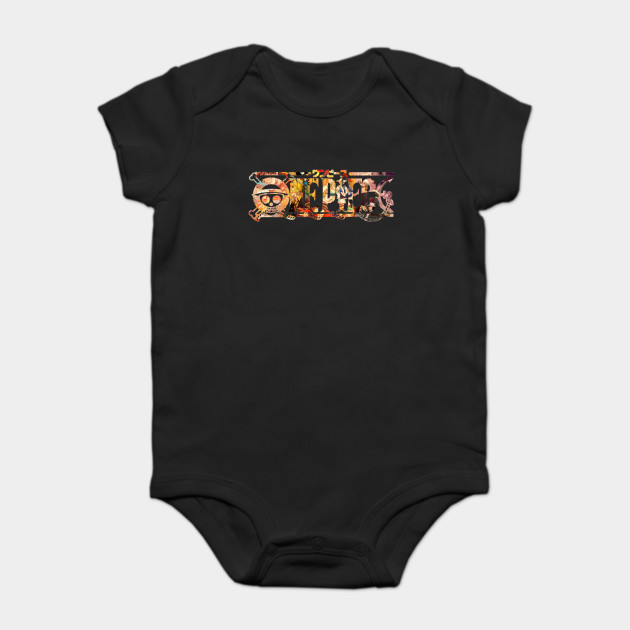 One Piece Logo One Piece Anime Onesie Teepublic
