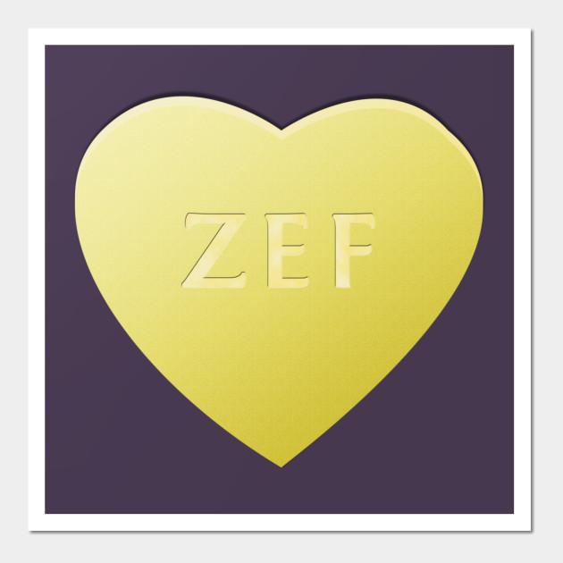 Zef Candy Heart - Lemon - Zef Style - Wall Art | TeePublic