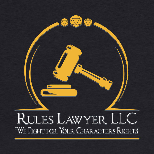D&D Tee - Rules lawyer