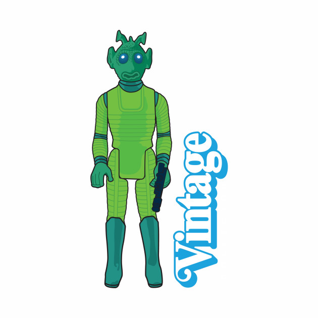 VINTAGE COLLECTOR - GREEN CANTINA PATRON ACTION FIGURE