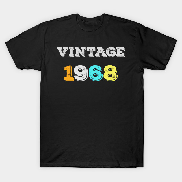 Vintage 1968 T Shirt Retro 50th Birthday Tee