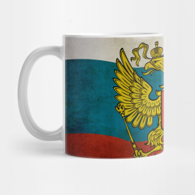 Waving flag of Russia... Mug