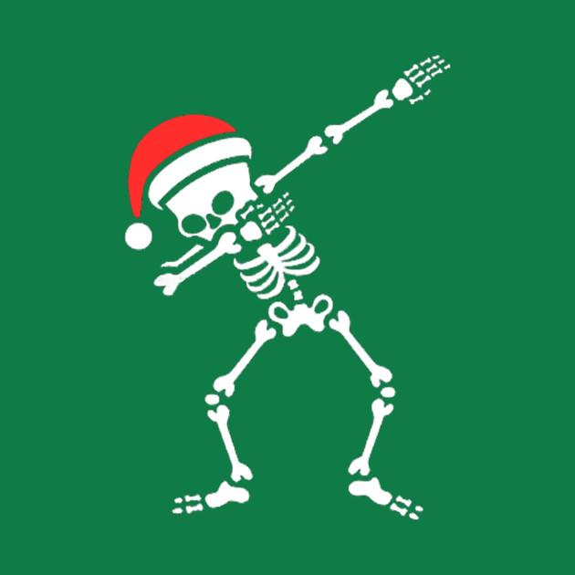 Christmas Skeleton.Dabbing Christmas Skeleton