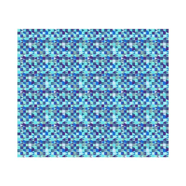 Abstract Blue Diamond Pattern
