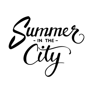 Summer In The City BLACK T Shirt
