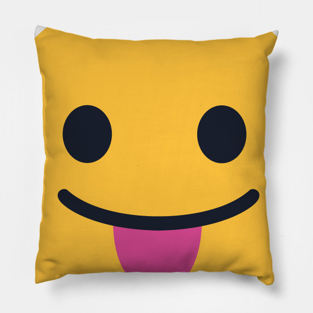 Cuscini Emoticon.Stuck Out Tongue Closed Eyes Emoji Emojis Cuscino Teepublic It
