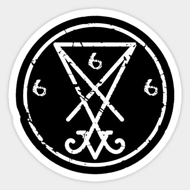 Satanic Symbol Of Lucifer 666 Satanism Sticker Teepublic