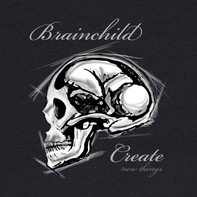 Brainchild black with text