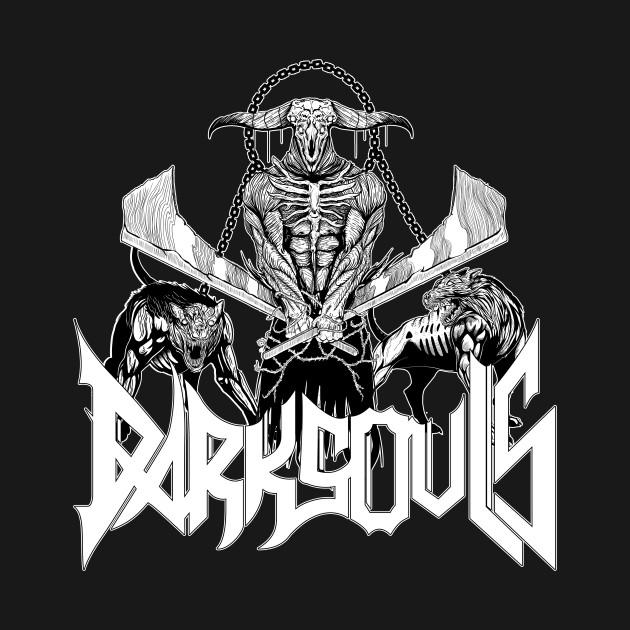 Capra Demon Metal Band Tee: Old School B&W Edition