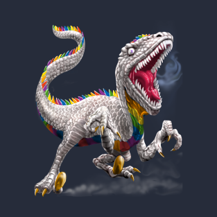 Rainbow Raptor t-shirts