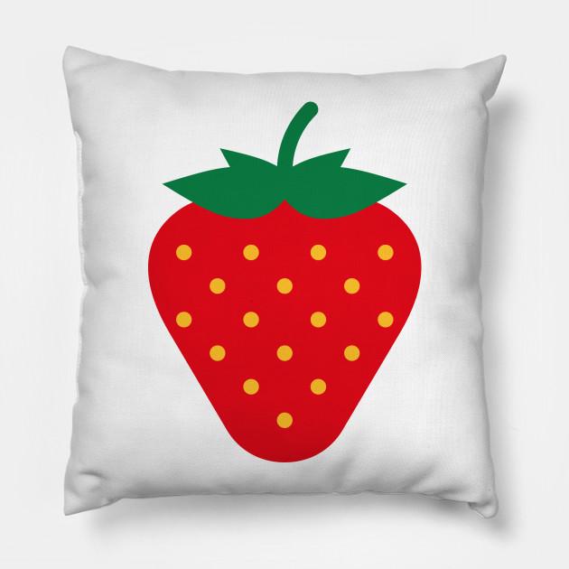08f934c11 Strawberry / Fraise / Fresa / Erdbeere - Strawberry - Pillow | TeePublic