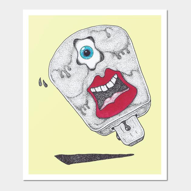 Ice Cream Pop - Cool Icecream - Wall Art   TeePublic