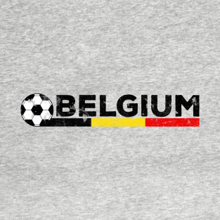0910c6748 Belgium Flag Soccer Football Fan Jersey T-Shirt