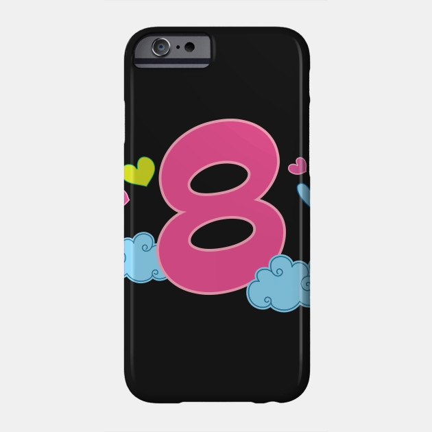 8th Birthday Gift Cute 8 Year Old Kids Phone Case