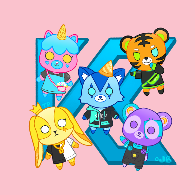 Plushies on a K
