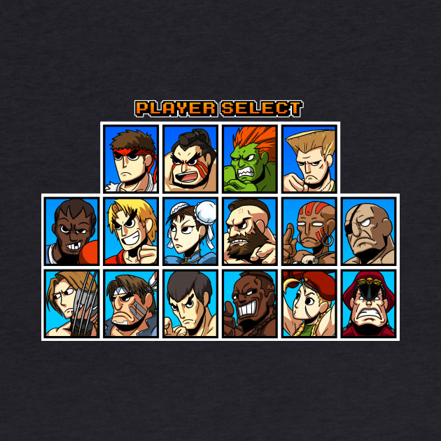 Street Fighter Player Select