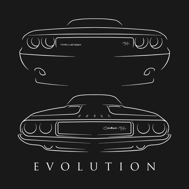 Evolution 1970 - Dodge Challenger R/T- front back