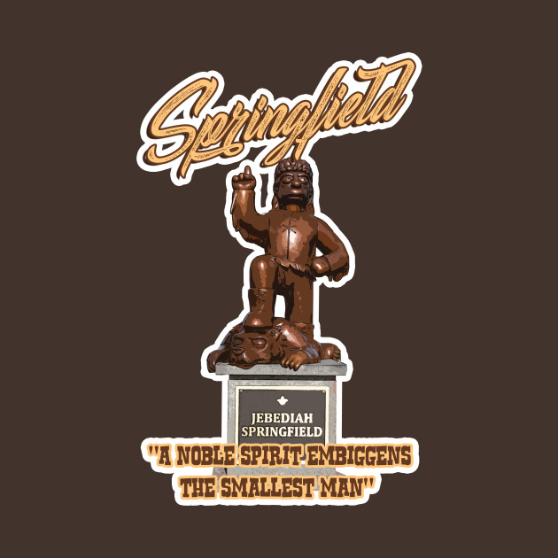 Jebediah Springfield statue from the SIMPSONS