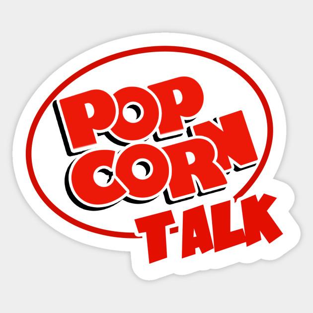 Popcorn Talk Logo Popcorn Talk Sticker Teepublic
