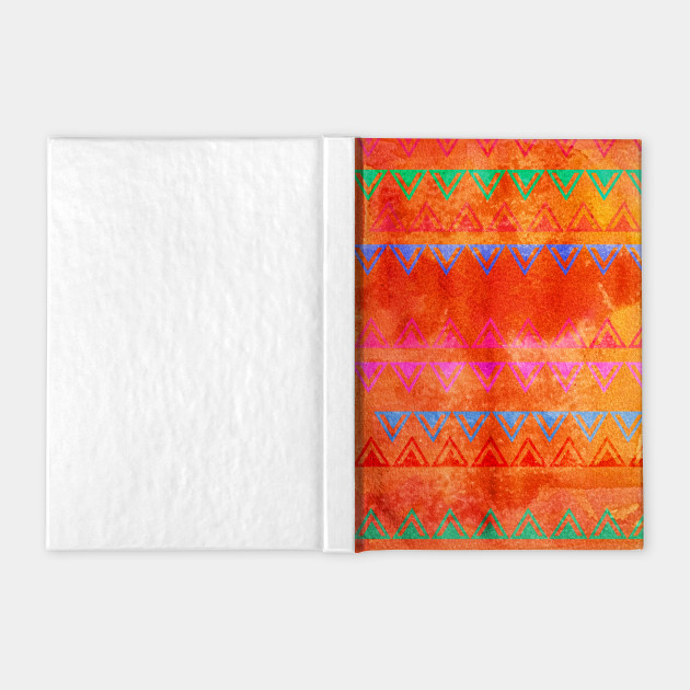 Abstract Bunting Watercolor Painting in Hot Pink, Orange, Mint & Blue
