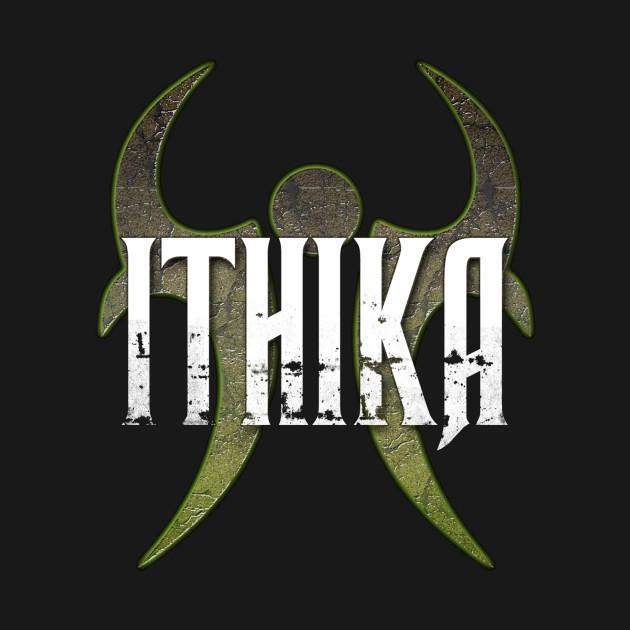 Vintage Ithika Logo Designed T Shirt