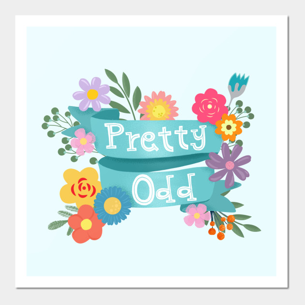 Pretty Odd Banner With Flowers