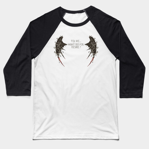 Lucifer Morningstar What Do You Desire? - Mightbelucifer Baseball T-Shirt