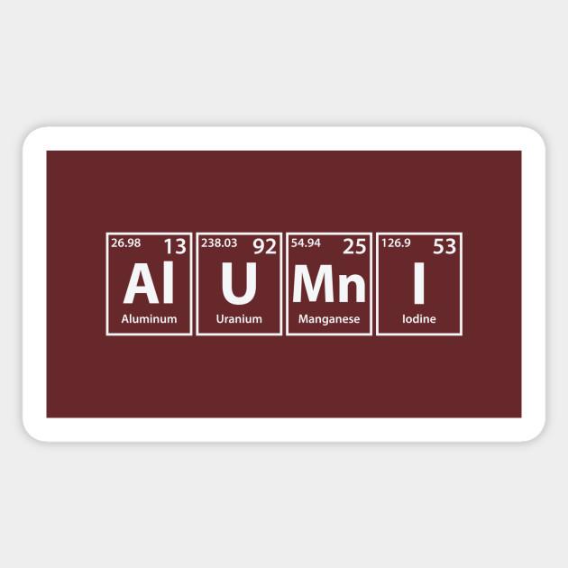 Alumni (Al-U-Mn-I) Periodic Elements Spelling - Alumni - Sticker ... 64203d012