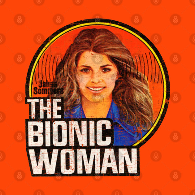 THE BIONIC WOMAN Vintage Iron On (Distressed)