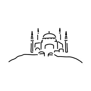 istanbul hagia sophia mosque t-shirts